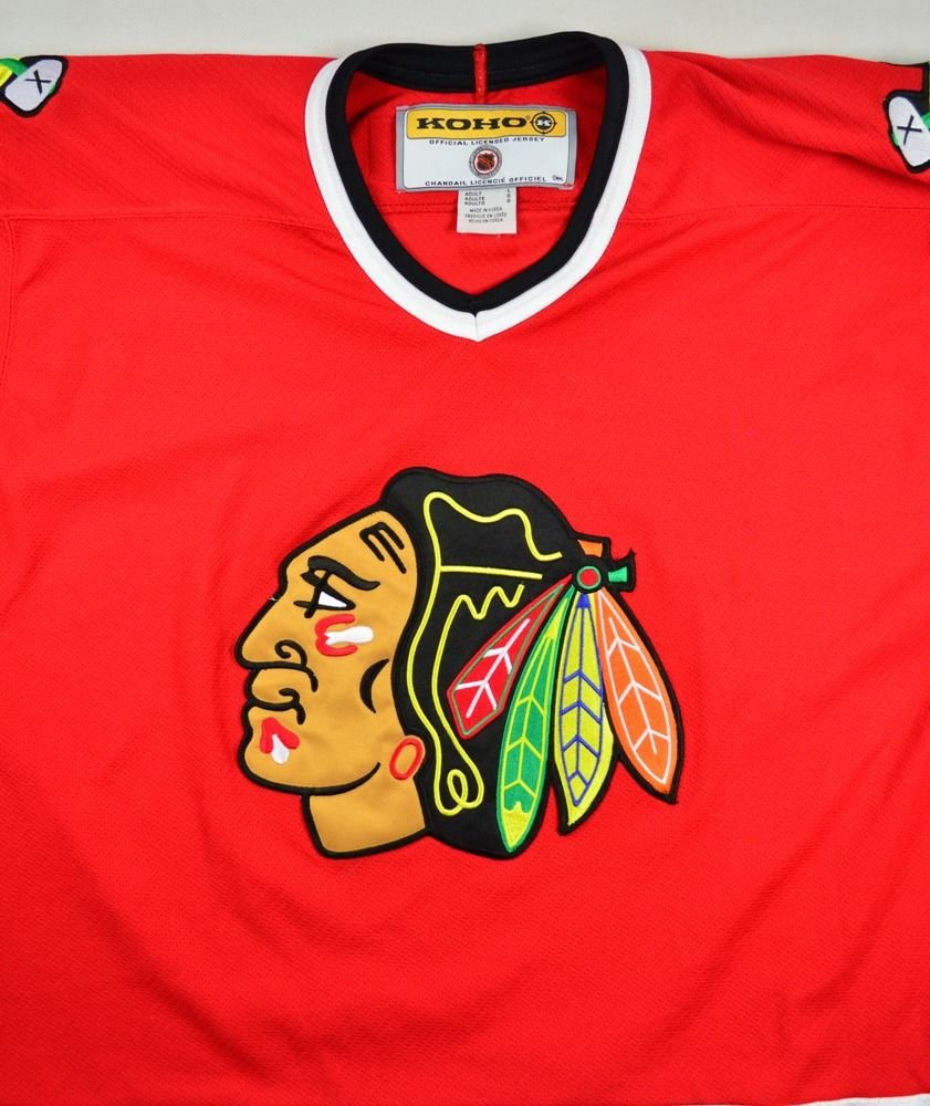 Chicago blackhawks nhl koho shirt l hockey vintage for Vintage blackhawks t shirt
