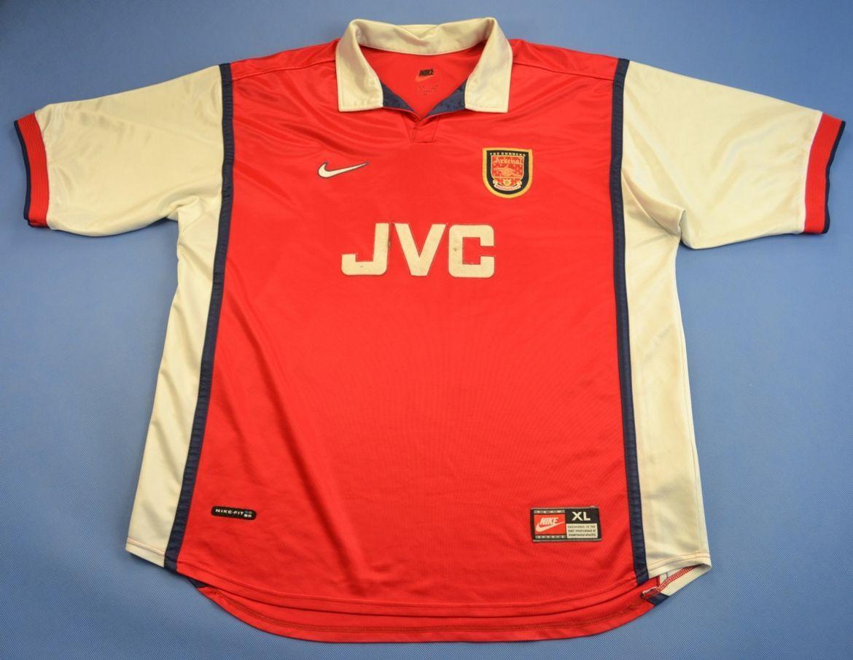 1998 99 arsenal shirt xl football soccer