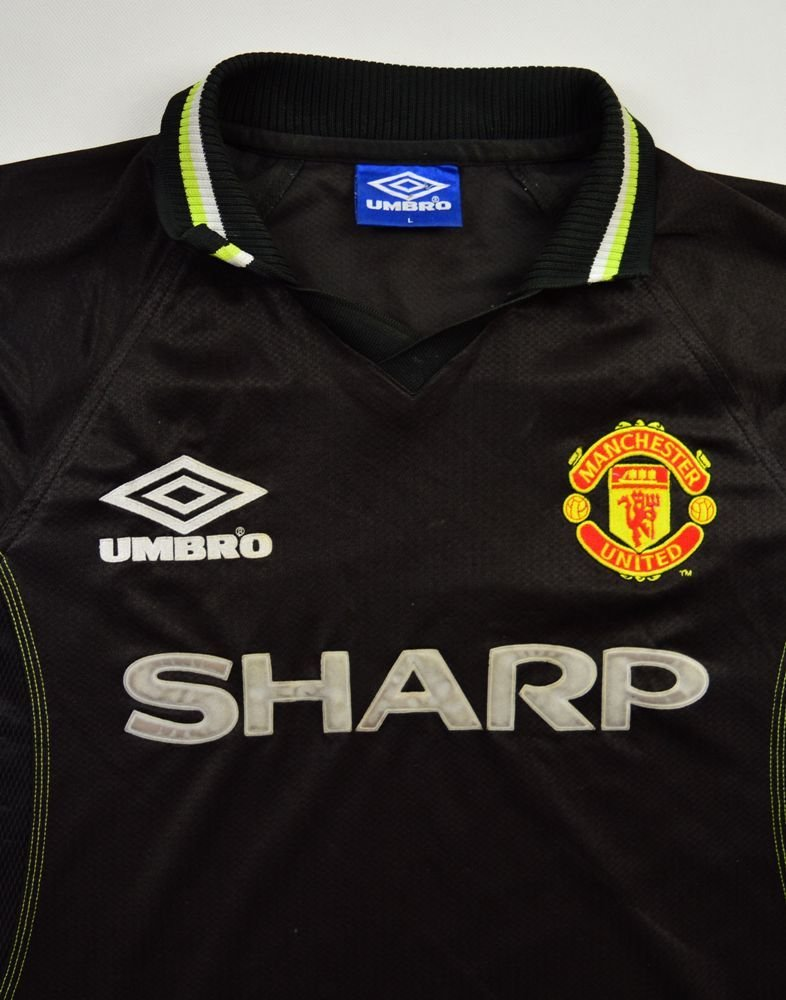 1998 99 manchester united shirt l football soccer for Epl table 1998 99