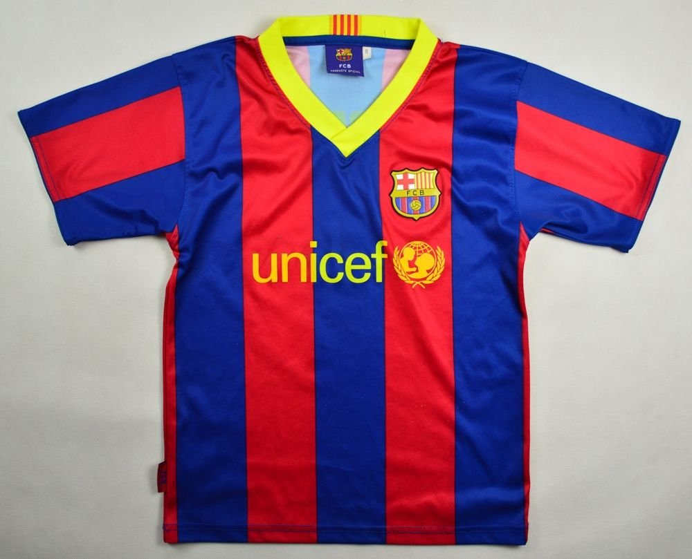 2010 11 fc barcelona messi shirt s boys football for Boys soccer t shirts