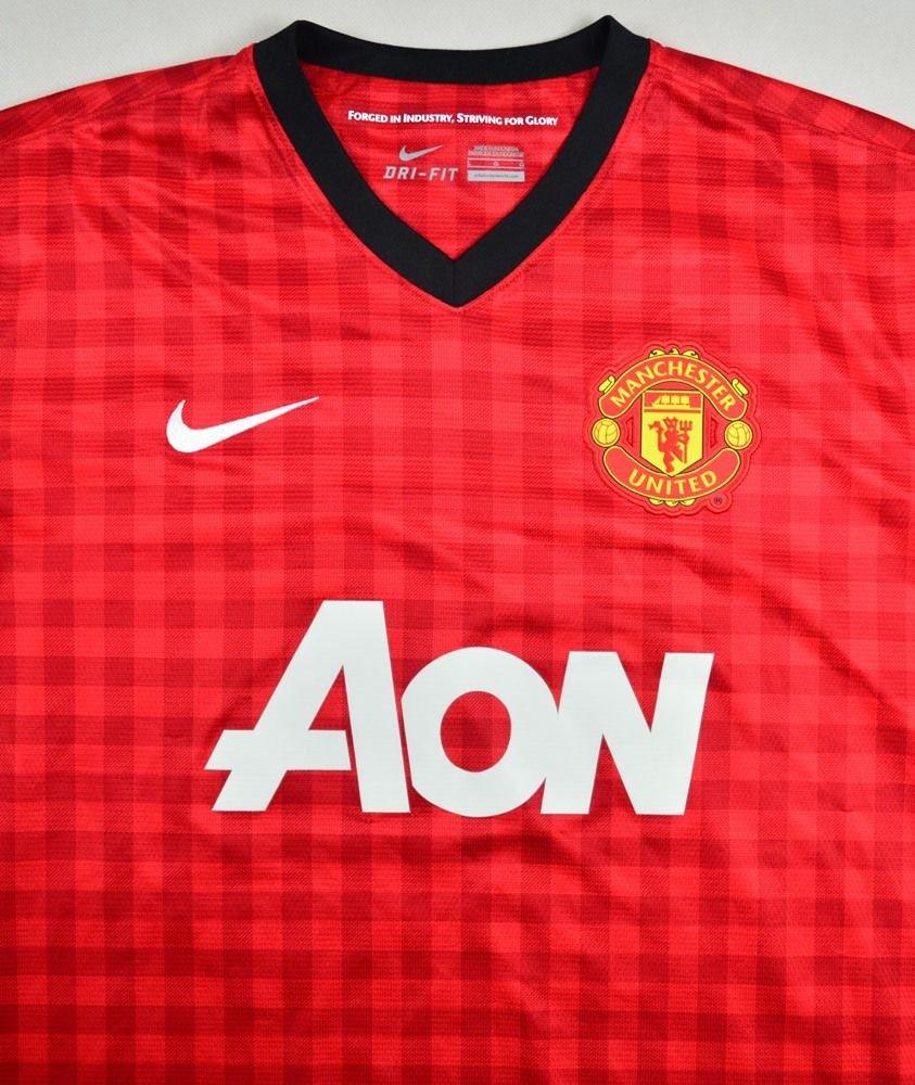 2012 13 manchester united kagawa shirt l football for Manchester united shirt sponsor