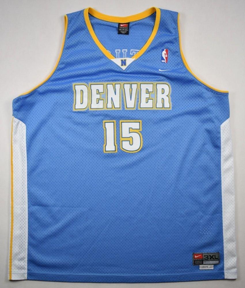 Nwt Adidas Nba Denver Nuggets Vintage Retro Jacket Coat: DENVER NUGGETS *ANTHONY* NBA NIKE SHIRT 3XL Other Shirts