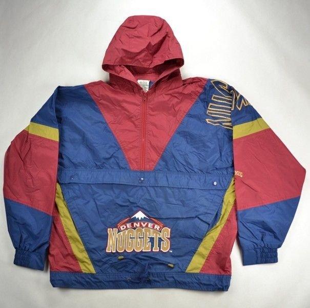 Nwt Adidas Nba Denver Nuggets Vintage Retro Jacket Coat: DENVER NUGGETS NBA NUTMEG MILLS JACKET M