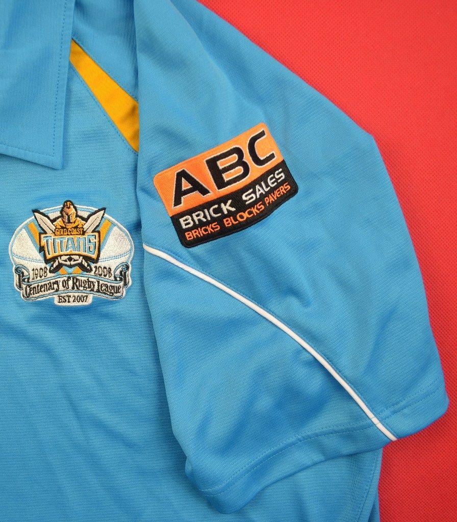 Vintage Valiant Rugby Shirt In Ultramarine Gold: GOLD COAST GIANTS RUGBY REEBOK SHIRT XXL