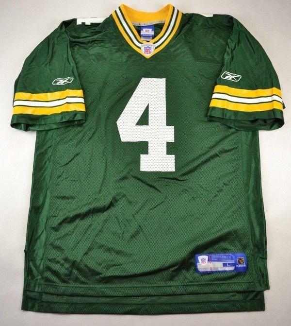 Green Bay Packers Nfl Favre Reebok Shirt L American