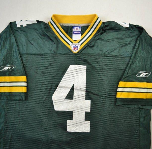 Green Bay Packers Nfl Favre Reebok Shirt Xl American