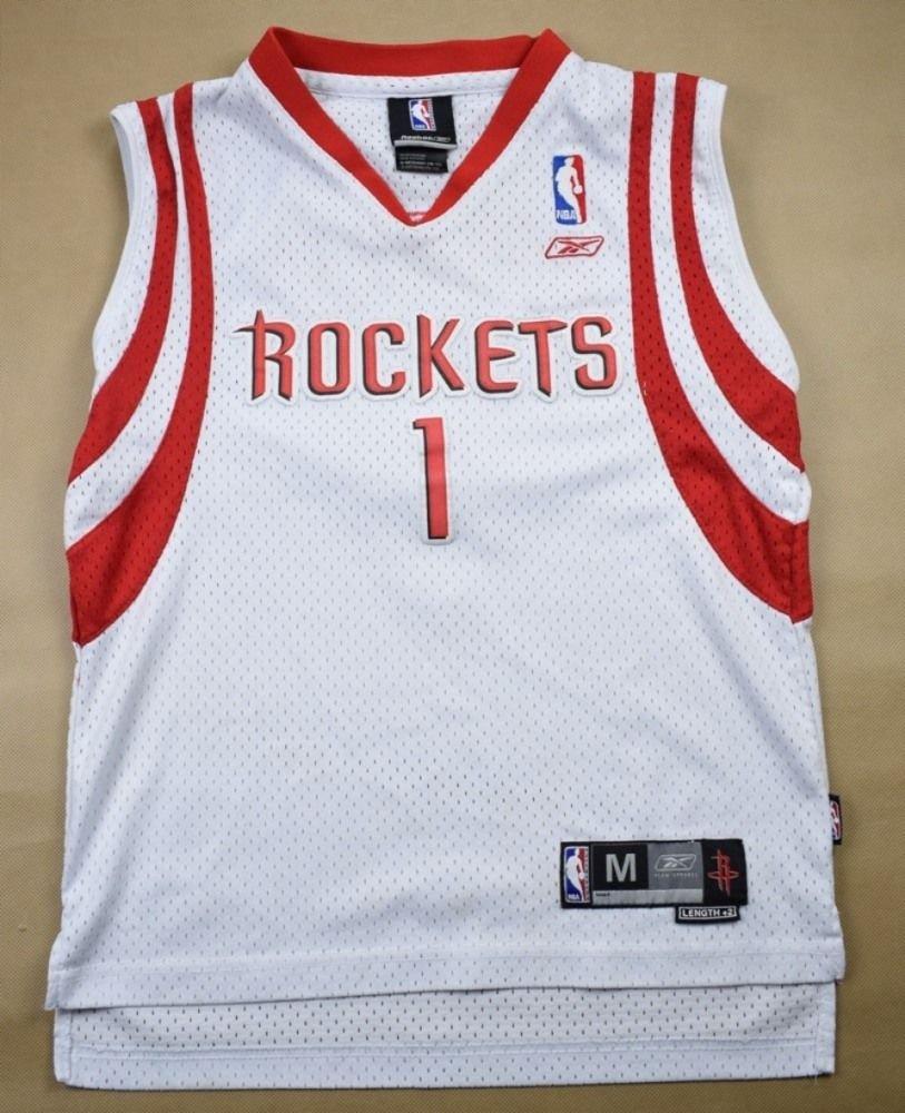 Houston Rockets Warm Up Shirt: HOUSTON ROCKETS NBA *McGRADY* REEBOK SHIRT M. BOYS 10-12