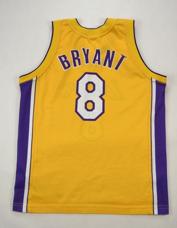 LOS ANGELES LAKERS NBA *BRYANT* CHAMPION SHIRT L. BOYS ...
