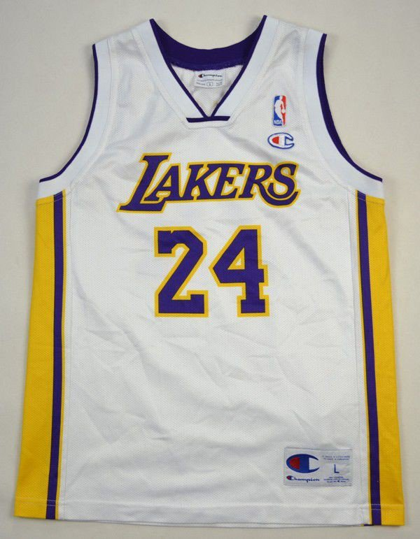 vintage basketball NBA LAKERS Champion white size XL jacket EonrWf8