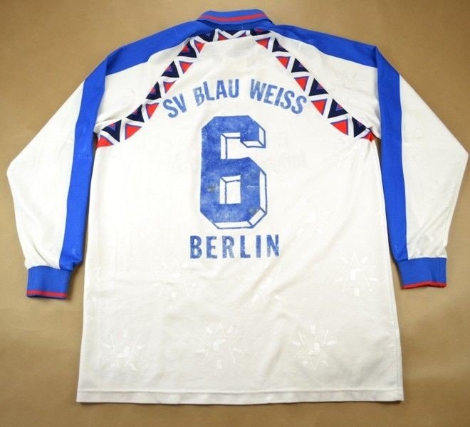 sv blau weiss berlin shirt xl football soccer european clubs german clubs other german. Black Bedroom Furniture Sets. Home Design Ideas