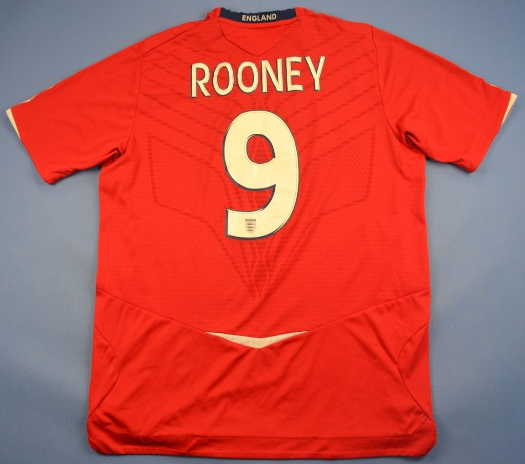 Wayne Rooney Umbro UMBRO ENGLAND NATIONAL SHIRT JERSEY WAYNE ROONEY SIZE L