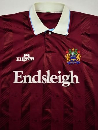 1989-91 BURNLEY FC SHIRT L