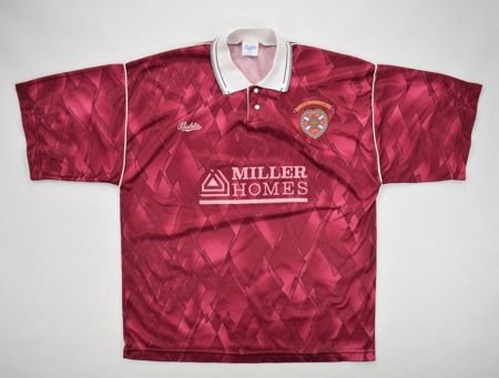 1990-91 HEART OF MIDLOTHIAN SHIRT L