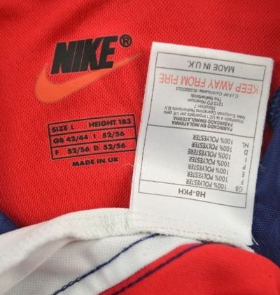 1998 99 arsenal london shirt l football soccer for Epl table 1998 99