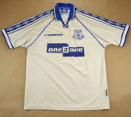 1998-99 EVERTON SHIRT M
