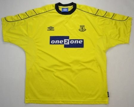 1999-00 EVERTON SHIRT XXL
