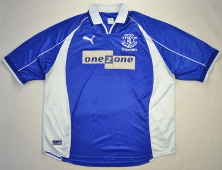 2000-02 EVERTON SHIRT XXL