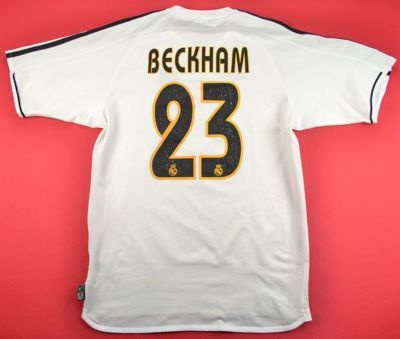 2003-04 REAL MADRID *BECKHAM* SHIRT S