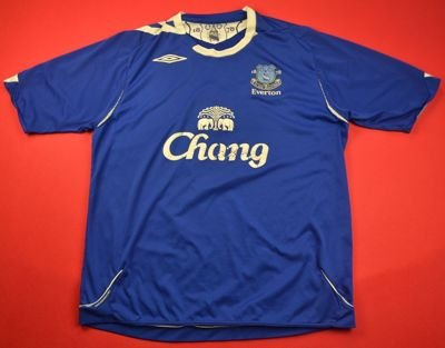 2006-07 EVERTON *JOHNSON* SHIRT XL