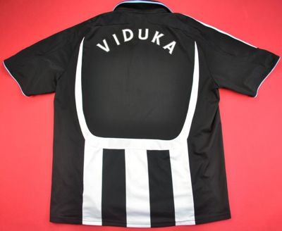 2007-2009 NEWCASTLE UNITED FC *VIDUKA* SHIRT L