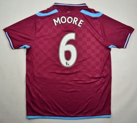 2009-10 WEST HAM UNITED *MOORE* SHIRT L
