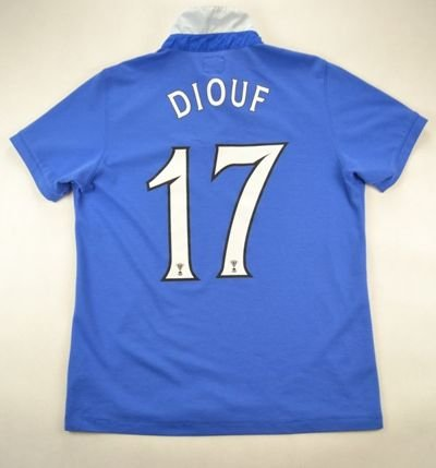 2010-11 GLASGOW RANGERS *DIOUF* SHIRT XL. BOYS