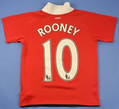 2010-11 MANCHESTER UNITED  *ROONEY* SHIRT S. BOYS