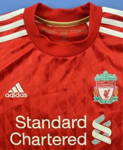 2010-12 LIVERPOOL *OMAR* SHIRT L. BOYS