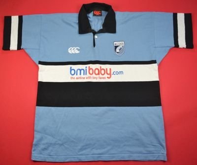 CARDIFF BLUES RUGBY CANTERBURY SHIRT XL