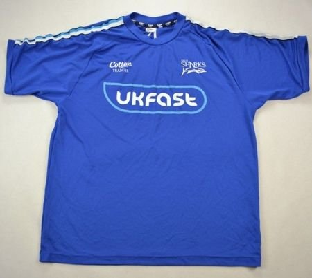 SALE SHARKS RUGBY COTTON TRADERS SHIRT XL