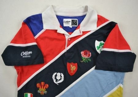 SIX NATIONS RUGBY COTTON TRADERS SHIRT M