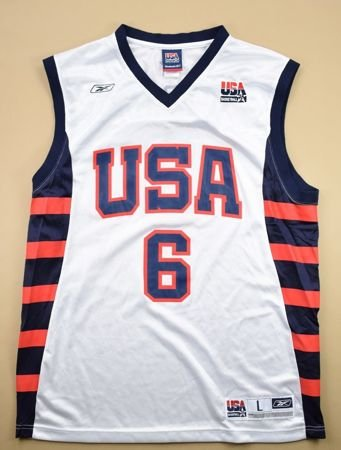 USA *MCGRADY* BASKETBALL REEBOK SHIRT L