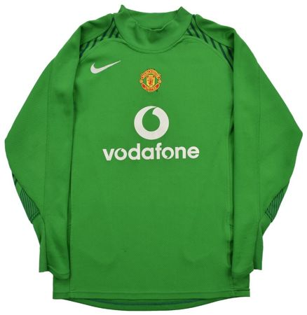 1bc54574ee8 2004-06 MANCHESTER UNITED GK  VANDERSAR  SHIRT M. BOYS Football ...