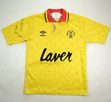 92 94 Manchester United Away Yellow Jersey Shirt | UNITED