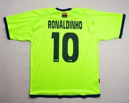 888b3890e 2005-06 FC BARCELONA  RONALDINHO  SHIRT XL Football   Soccer   European  Clubs   Spanish Clubs   FC Barcelona