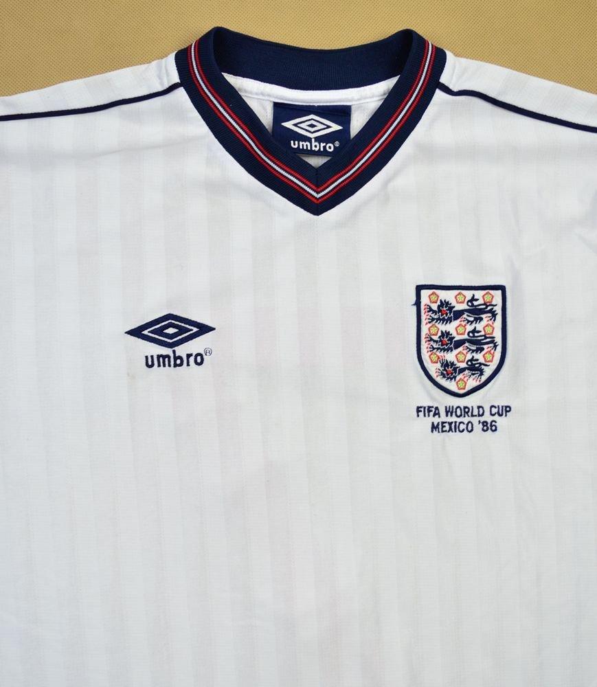 1986 ENGLAND WORLD CUP 86 REPLICA SHIRT L Football Soccer International Teams Europe England