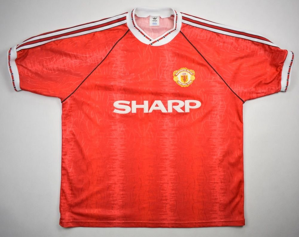 8b64ff592fb 1990-92 MANCHESTER UNITED SHIRT L Football   Soccer   Premier League   Manchester  United