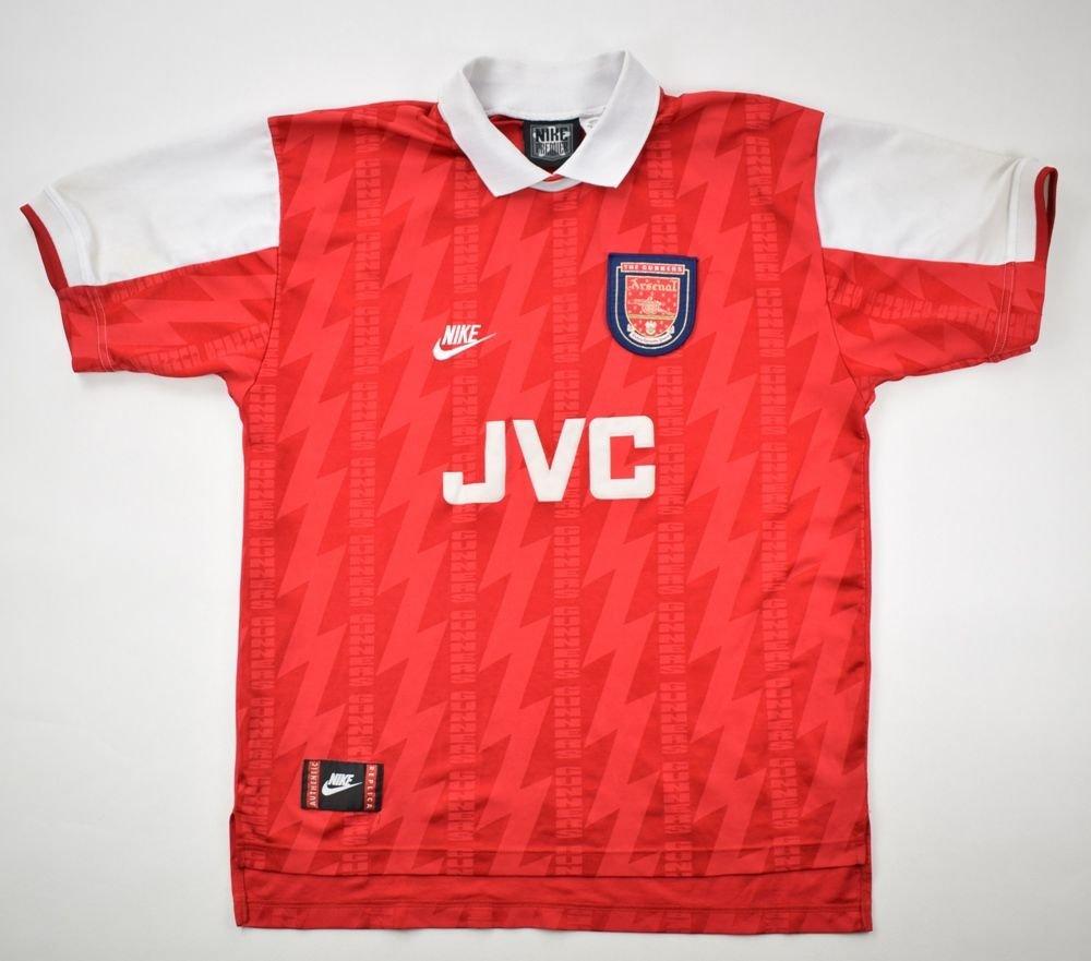 1994-96 ARSENAL LONDON  BERGKAMP  SHIRT L Football   Soccer   Premier League    Arsenal London  eb0855429