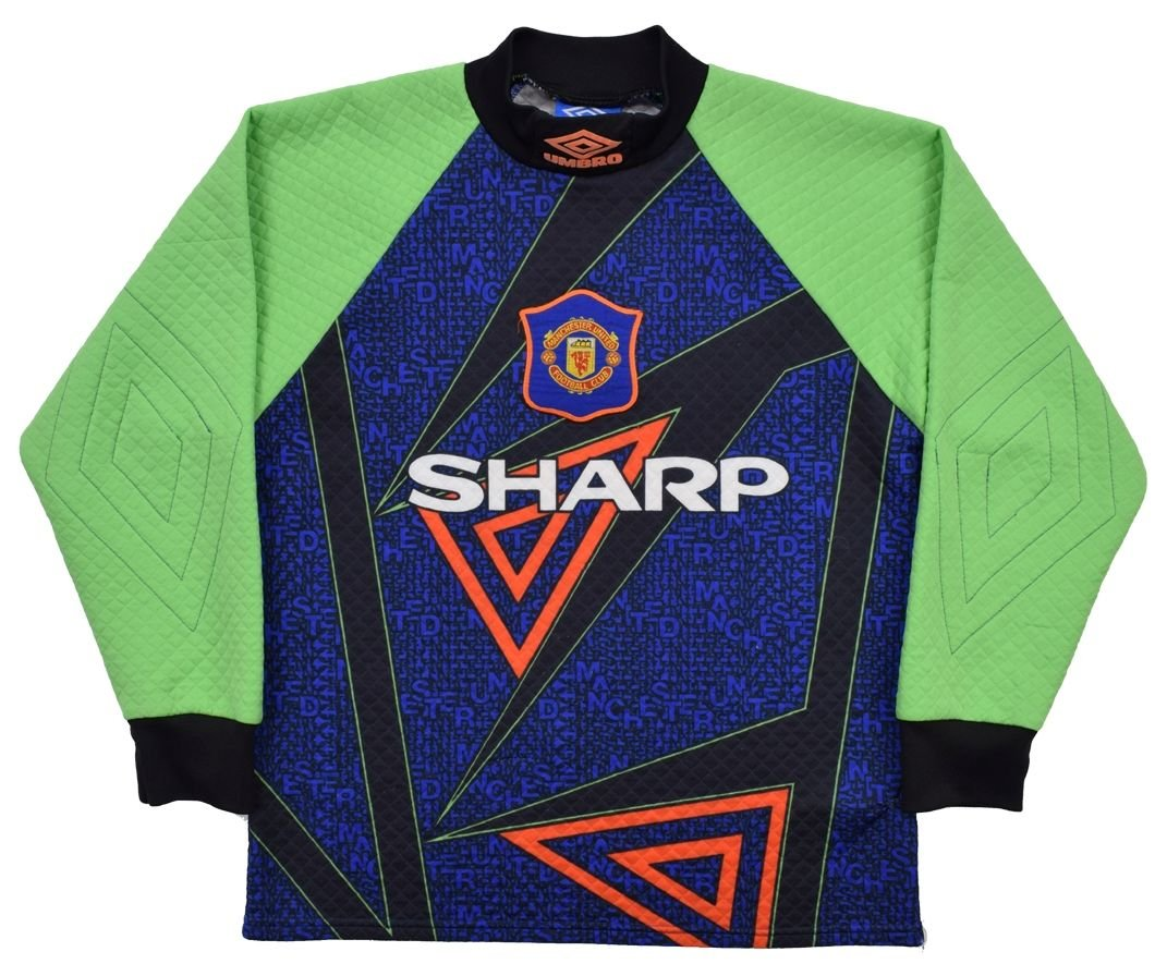 brand new 83370 1e0f5 1994-96 MANCHESTER UNITED GK SHIRT XL. BOYS