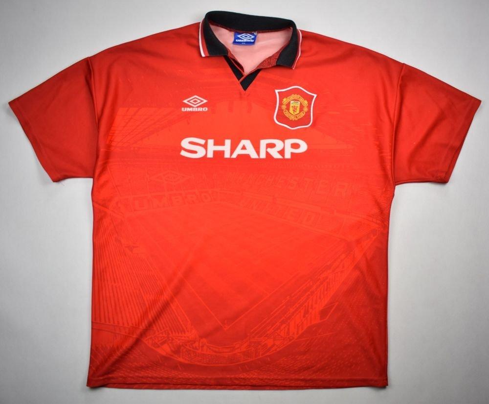 buy online ed66f c5dfa 1994-96 MANCHESTER UNITED SHIRT XXL