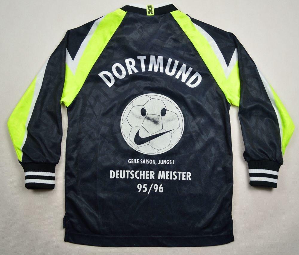 1995 96 Borussia Dortmund Longsleeve S Boys Football Soccer European Clubs German Clubs Borussia Dortmund Classic Shirts Com