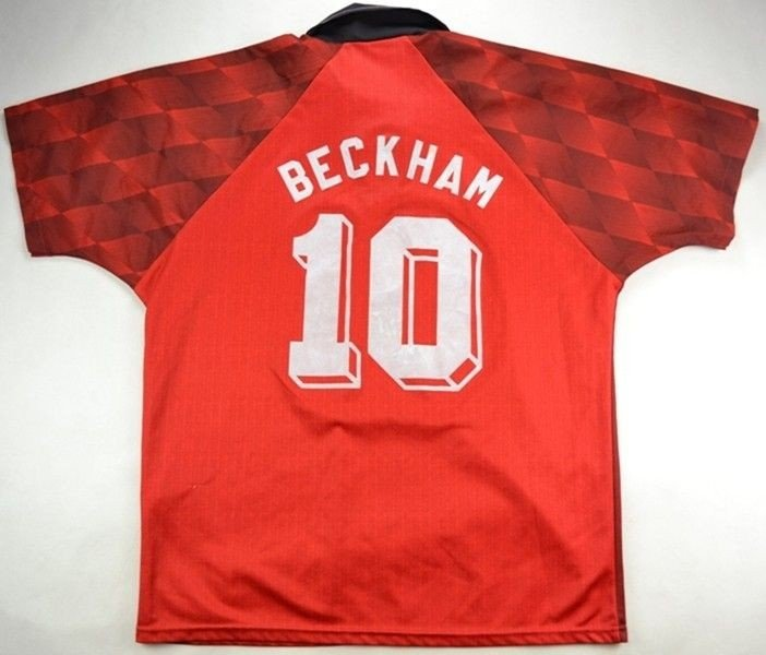 competitive price cac77 01950 1996-97 MANCHESTER UNITED *BECKHAM* SHIRT L