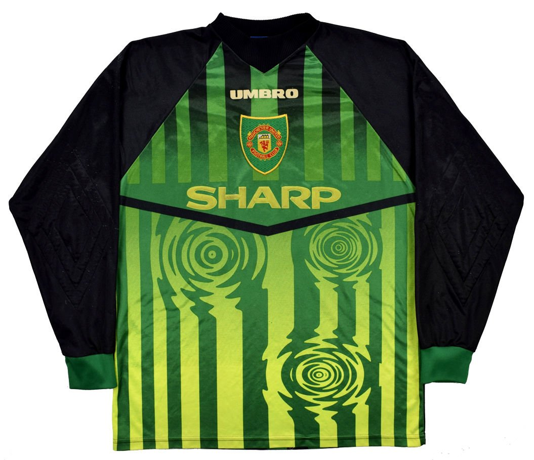 size 40 744a9 6a74c 1997-98 MANCHESTER UNITED GK LONGSLEEVE SHIRT L
