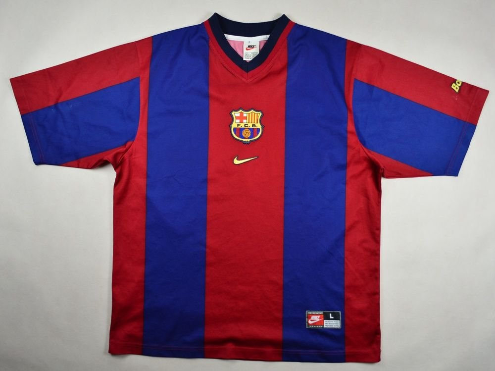 67dabdc7928 1998-00 FC BARCELONA SHIRT L Football / Soccer \ European Clubs ...