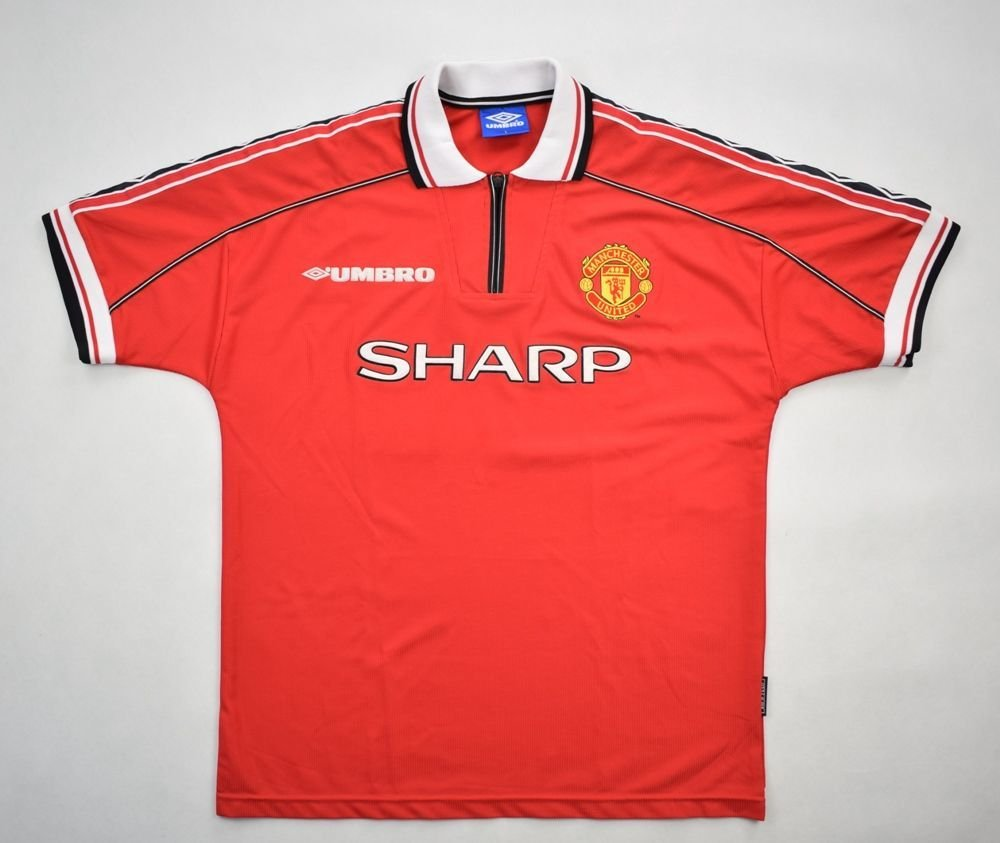 f02d8c9d7 1998-00 MANCHESTER UNITED SHIRT L Football   Soccer   Premier League   Manchester  United