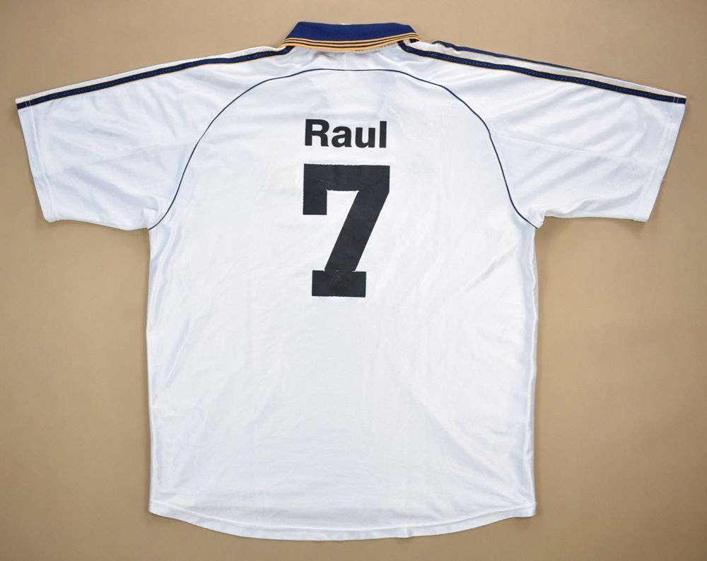 new product 99000 dfba2 1998-00 REAL MADRID *RAUL* SHIRT XL