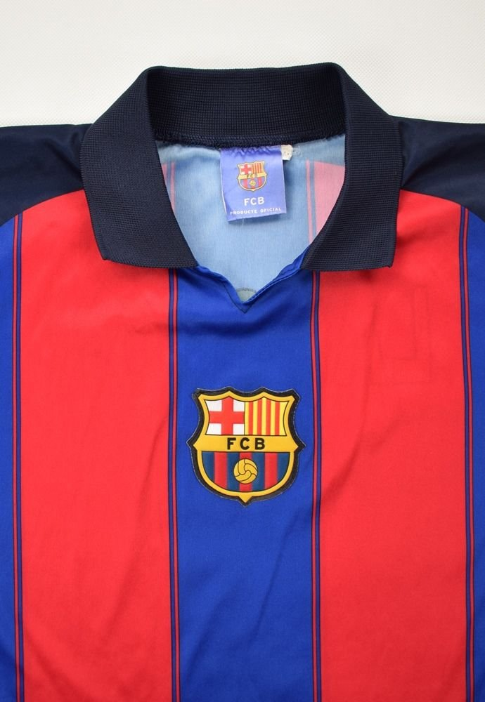 official photos edc05 18eea 2000-01 FC BARCELONA *LARSSON* SHIRT M