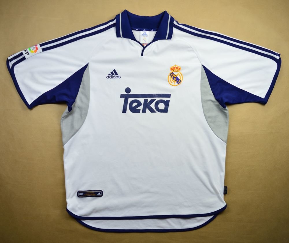 online store f1e98 ebe65 2000-01 REAL MADRID SHIRT XL