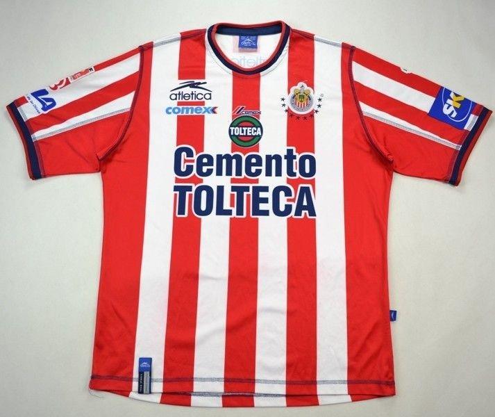 6db5262aa 2002-03 CHIVAS CLUB DEPORTIVO GUADALAJARA SHIRT XL Football   Soccer   Rest  of world