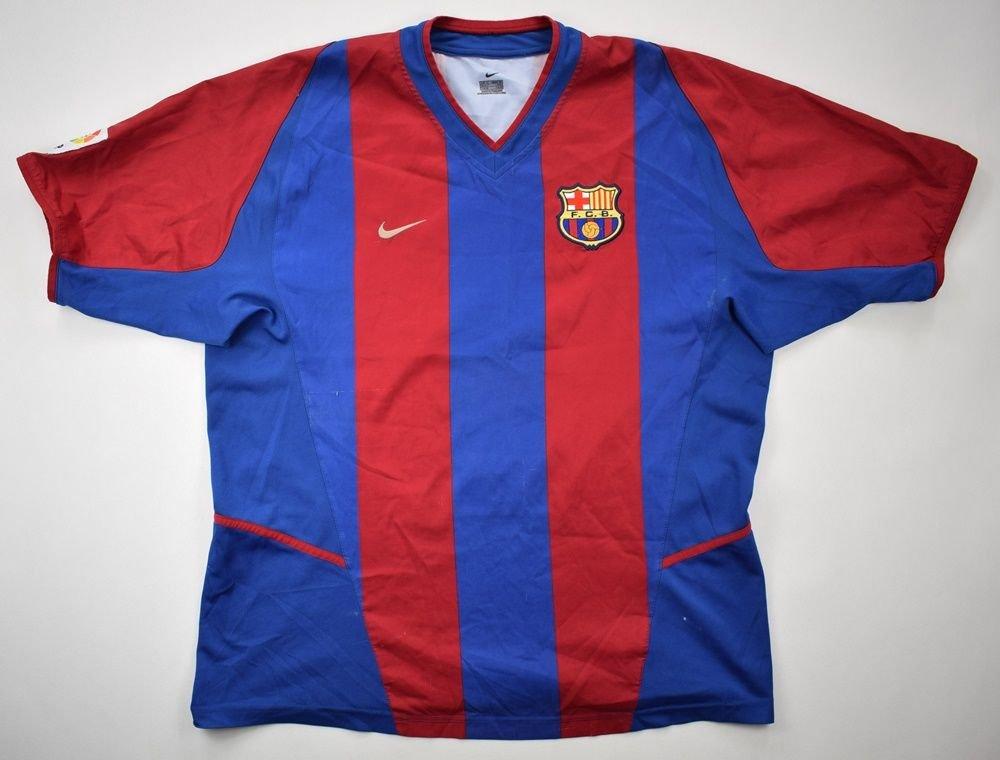 sports shoes 3a6a0 efc3a 2002-03 FC BARCELONA SHIRT XL
